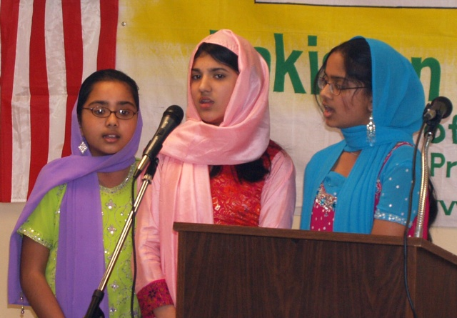 Girls performing a naat