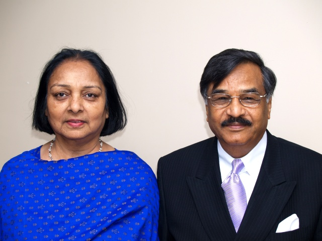 PASSJ vice-president Mr. Habib Quraishi with Mrs. Quraishi