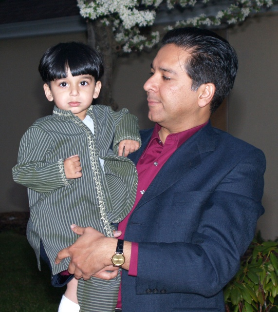 Dr. Jamal Mahmud with son